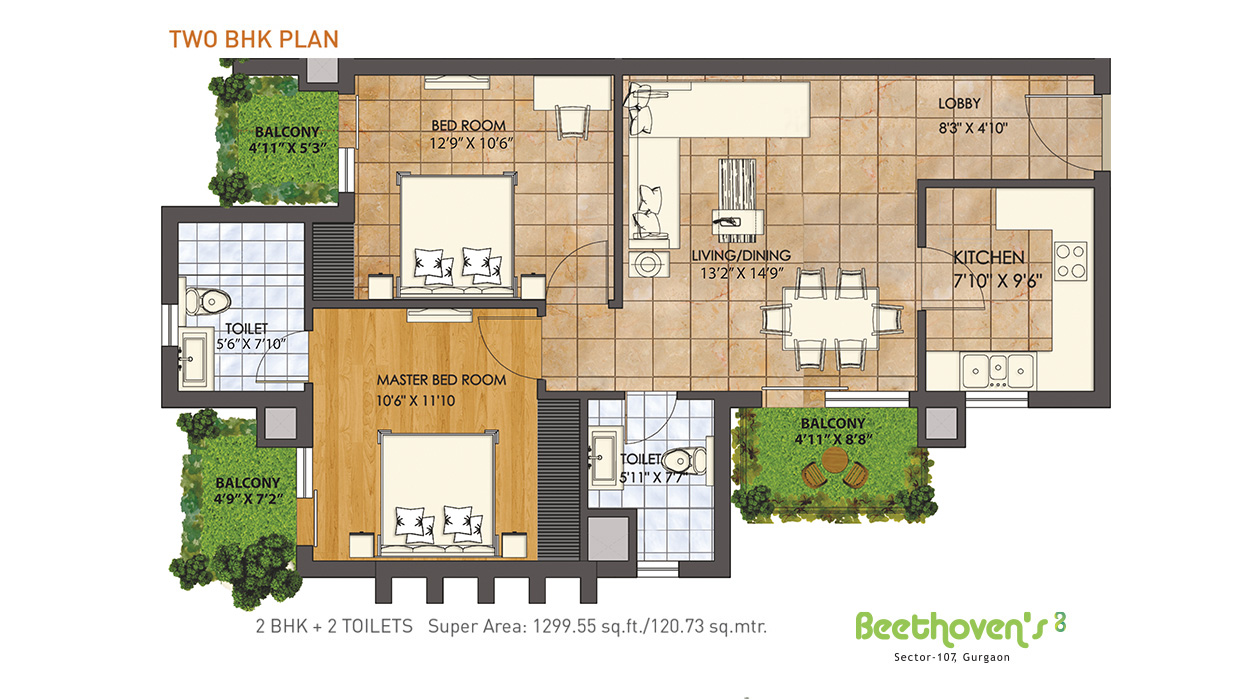 Two BHK Plan