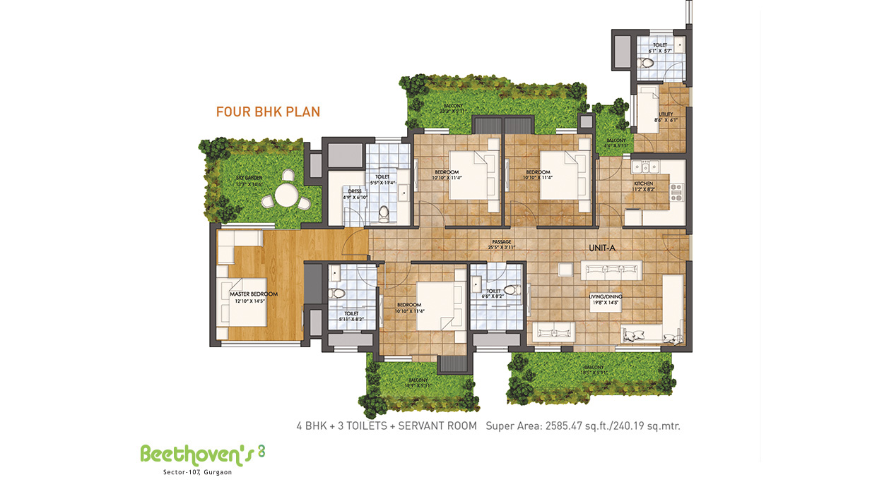 Four BHK Plan